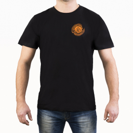 T-shirt - Black Orange Logo (M)