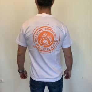 T-shirt - White/Orange Logo (L)