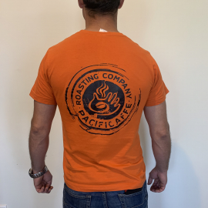 T-shirt - Orange/Black Logo (L)