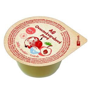 AG Gyümölcspüré alma-őszibarack-túró 120 g (48 db)